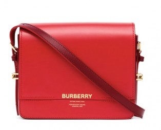 BURBERRY Small Leather Grace Bag Red Color