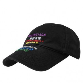 BALENCIAGA LANGUAGES CAP in Black