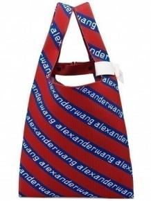 Alexander Wang knit jacquard logo tote