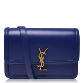 SAINT LAURENT MONOGRAM SOLFERINO MEDIUM BAG Navy