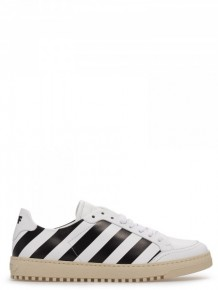 OFF WHITE diagonal stripe print sneakers