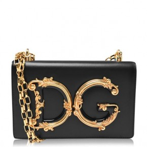 DOLCE AND GABBANA GIRL MINI MESSENGER BAG
