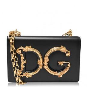 DOLCE AND GABBANA GIRL MINI MESSENGER BAG