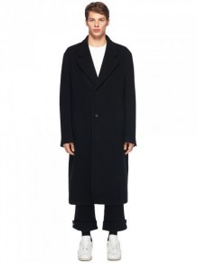 Maison Margiela Black Wool Long Coat