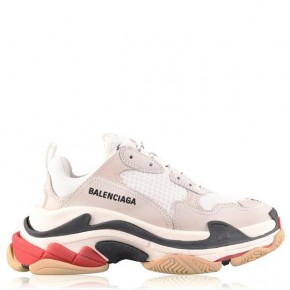 BALENCIAGA Triple S Red Trainers