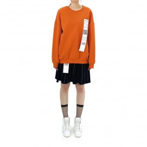 Y3NOLOGY Unisex Oversized Sweatshirt In Orange